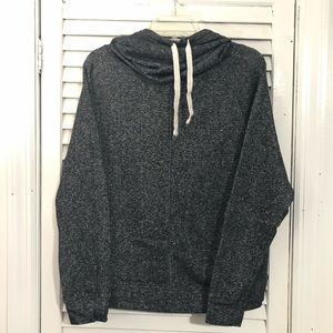 Derek heart pullover cowl neck sweater size medium